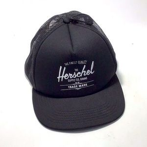 Herschel Black Whaler Cap   Mesh Unisex